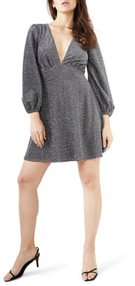 Bardot Marlena Long Sleeve Babydoll Dress