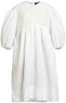 Simone Rocha Cloque Puff-Sleeve Smock Dress