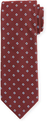 BOSS Men's Silk-Blend Diamond Pattern Tie