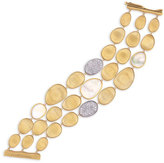 Marco Bicego Lunaria Three-Row Mother-of-Pearl Bracelet with Diamonds