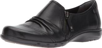 Rockport Cobb Hill Women's Cobb Hill Penfield Zip Flat Black Leather 6.5 M US