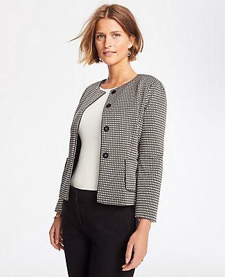 Ann Taylor Petite Basketweave Knit Jacket
