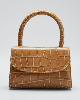 BY FAR Mini Stamped Croco Top-Handle Bag