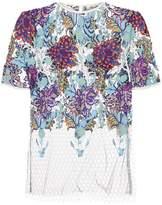 Diane von Furstenberg Embroidered Lace Top