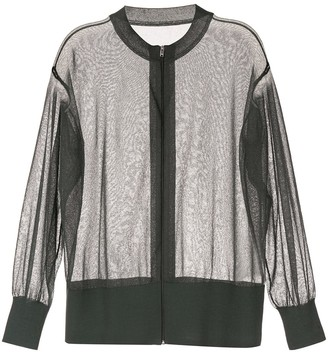 Kuho Sheer Zip Front Cardigan