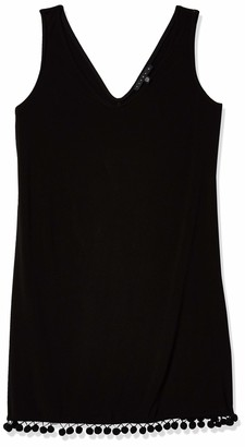 Tiana B T I A N A B. Women's Petite Solid Jersey Sleeveless V-Neck Sheth with Trim Detail