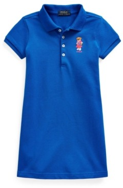 Polo Ralph Lauren Toddler Girls Polo Bear Stretch Mesh Polo Dress