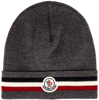 Moncler Beanie in Anthracite | FWRD