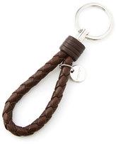 Bottega Veneta Men's Intrecciato Leather Loop Key Chain