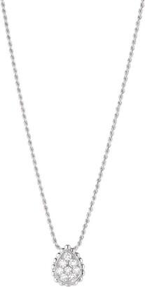 Boucheron White Gold Diamond Serpent Boheme Pendant Necklace