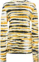 Proenza Schouler Tie Dye Long Sleeve Jersey Tissue Top