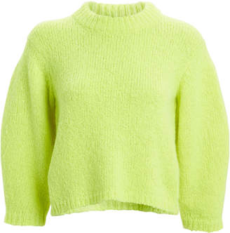 Tibi Cozette Cropped Alpaca & Wool Sweater