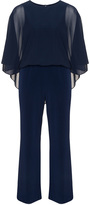 Apart Plus Size Jersey chiffon jumpsuit