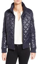 French Connection Women's Quilted Bomber Jacket.