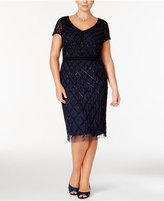 Adrianna Papell Plus Size Embellished Beaded Dress