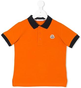 Moncler Enfant Contrast Collar Polo Shirt