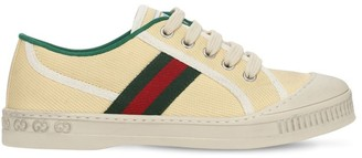 Gucci Canvas Sneakers W/ Web Details