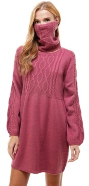 City Studios Juniors' Cable-Knit Sweater Dress and Mask