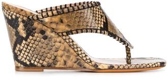 Maryam Nassir Zadeh Talia Thong snake print sandals