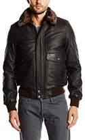Schott NYC Men's LC5331X Leather Long Sleeve Jacket,(Manufacturer Size: XL)