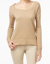 MICHAEL Michael Kors Beige Size XS Cold Shoulder Scoop Neck Sweater