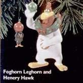 Hallmark 1996 Foghorn Leghorn and Henry Hawk Looney Tunes Ornament