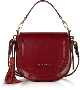 The Bridge Pearldistrict Medium Leather Messenger Bag w/Tassels