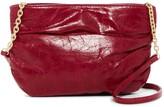 Hobo Belle Ruched Leather Crossbody Bag