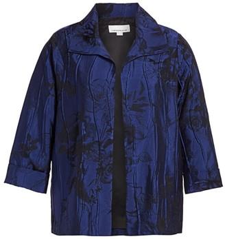 Caroline Rose Caroline Rose, Plus Size Lush & Luminous Rose Jacquard Jacket