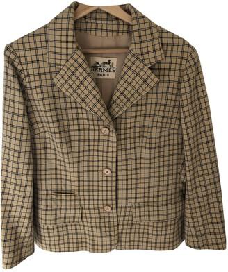 Hermes Yellow Wool Jacket for Women Vintage