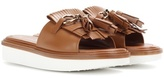Tod's Leather slip-on sandals