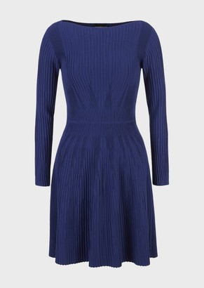 Emporio Armani Knit Dress With Ribbing