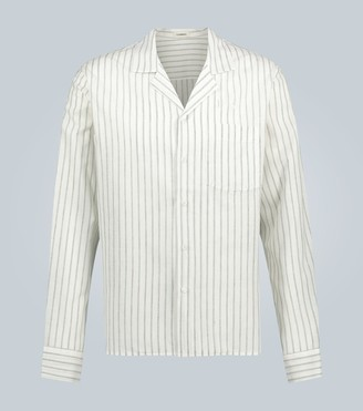 COMMAS Linen striped long-sleeved shirt