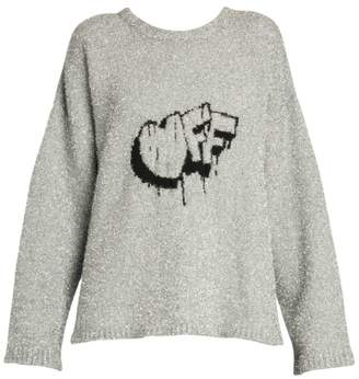 Off-White Off White Off Lurex Knit Sweater