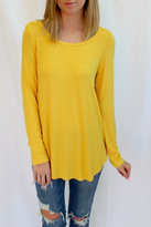 Fifteen-Twenty Fifteen Twenty Bright Yellow Long Top