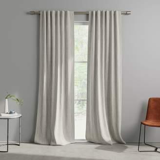 west elm Cotton Canvas Bomu Curtains (Set of 2) - Platinum