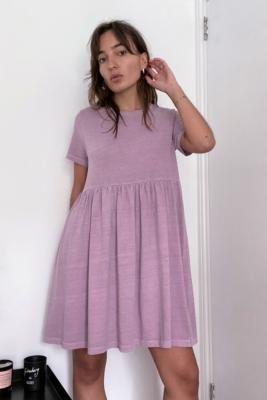 Urban Outfitters Alexa Washed Cotton Babydoll Mini Dress - White XS at