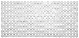 iDesign Orbz Non-Slip Suction Bath Mat for Shower and Bathtub, White