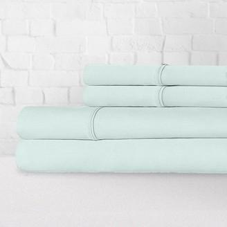 Ella Jayne 100% Cotton Percale Crisp & Cool 300 Thread Count 4-Piece Sheet Set