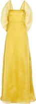 Bow-back silk-organza gown