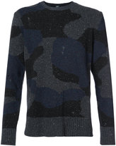 Eleventy camouflage print jumper