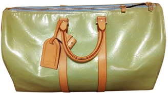 Louis Vuitton Keepall Green Patent leather Travel bags
