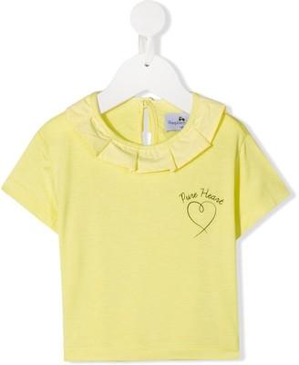 Raspberry Plum Dita ruffle trim T-Shirt