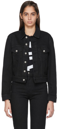 Helmut Lang Black Denim Masc Trucker Jacket