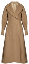 The Row Laug oversized-lapel A-line coat