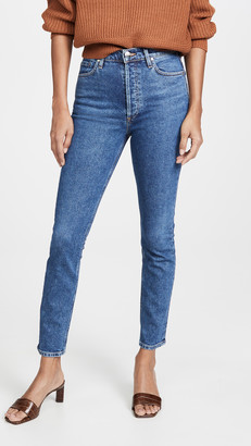 Gold Sign High Rise Slim Jeans