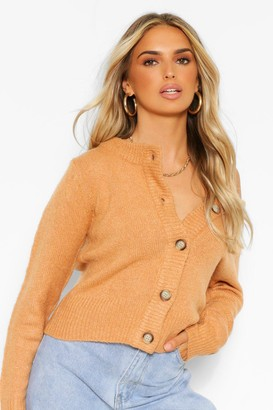 boohoo Soft Knit Crop Cardigan