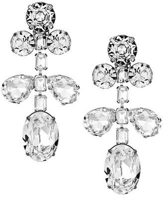 Kenneth Jay Lane Crystal Drop Clip-On Earrings