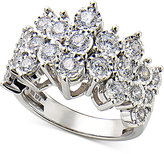 Macy's Diamond Cluster Ring in Sterling Silver (1 ct. t.w.)