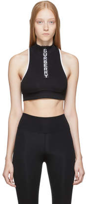 Burberry Black Tay Cropped Tank Top